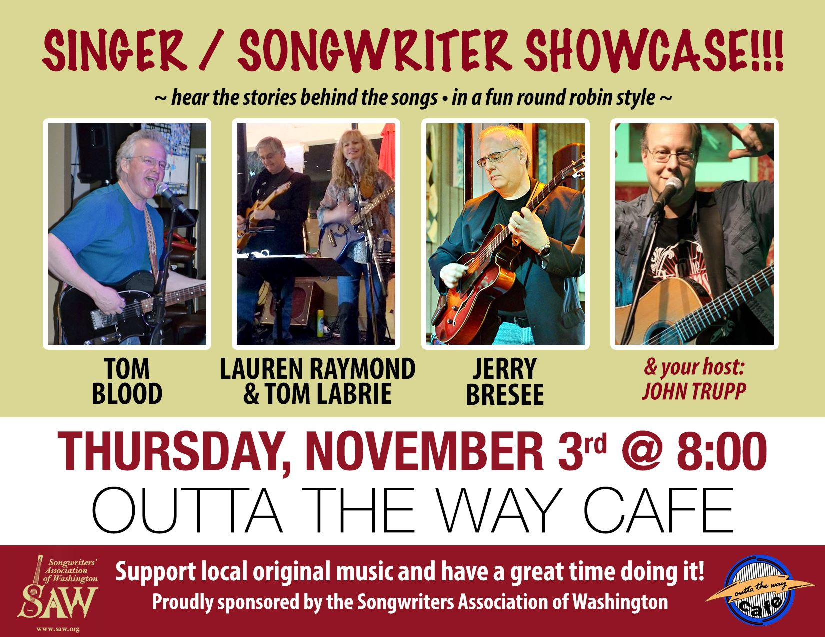 Songwriter Associations for Virginia, Washington & West Virginia